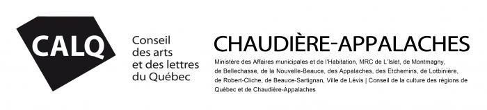 Bandeau de l'entente de partenariat du CALQ en Chaudière-Appalaches